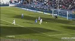 Enlace a GIF: Gol de Benzemá al Getafe. Benzema, ¿te encuentras bien?