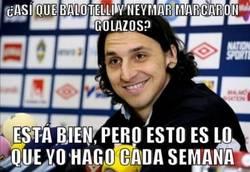 Enlace a Ibra tras ver los golazos de Neymar y Balotelli