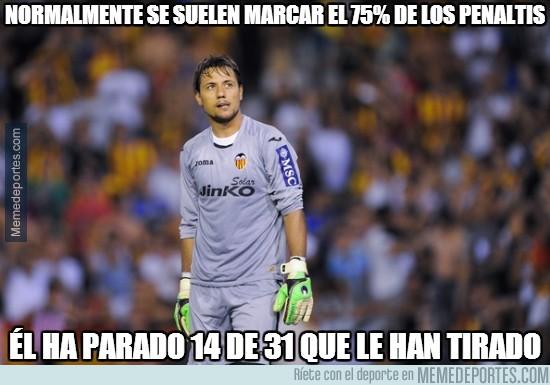267573 - A mí me daría miedo lanzar un penalti y tener delante a Diego Alves