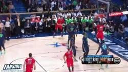 Enlace a GIF: Gran asistencia de Curry que Durant no perdona