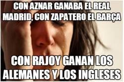 Enlace a Hasta en el fútbol nos va mal con Rajoy