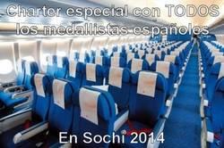 Enlace a Avión con todos los medallistas españoles en Sochi