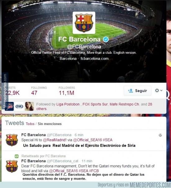268880 - Rebeldes sirios hackean el Twitter Oficial del Barcelona