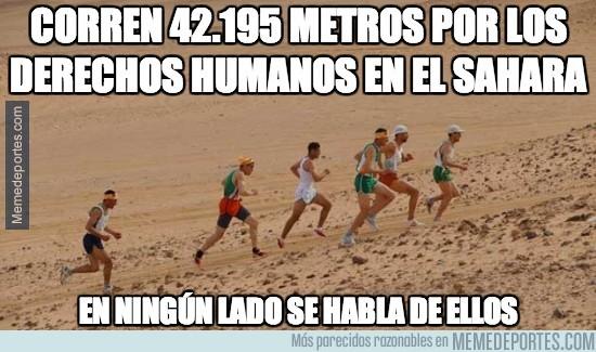270071 - Corren 42.195 metros por los derechos humanos en el Sáhara