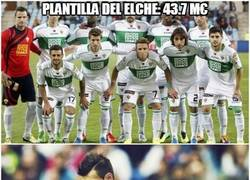 Enlace a Plantilla del Elche vs Gareth Bale
