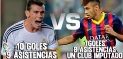 Enlace a Los registros de Neymar y Bale llegados a este punto de la liga