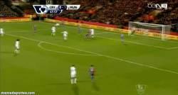 Enlace a GIF: El Golazo de volea de Rooney Crystal Palace para celebrar su renovación de contrato