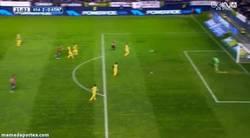 Enlace a GIF: Y para empeorar las cosas para el Atlético, Golazo de Armenteros que pone el segundo