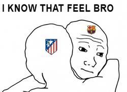 Enlace a Barça y Atleti se consuelan mútuamente