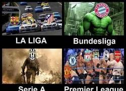 Enlace a Las grandes ligas europeas en estos momentos