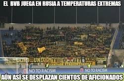 Enlace a El Borussia juega en Rusia a temperaturas extremas