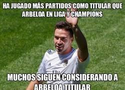 Enlace a Arbeloa sólo ha jugado en Copa y partidos sueltos de Liga