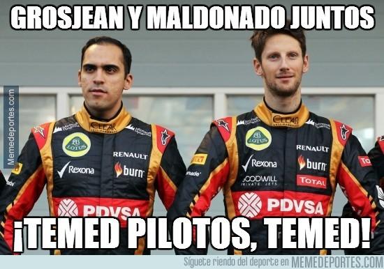 274355 - Grosjean y Maldonado juntos