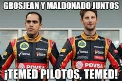 Enlace a Grosjean y Maldonado juntos