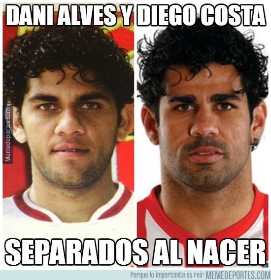 274420 - Dani Alves y Diego Costa, nunca lo habías visto así