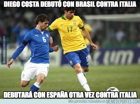 274977 - El debut de Diego Costa con Brasil fue contra Italia