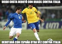 Enlace a El debut de Diego Costa con Brasil fue contra Italia