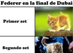 Enlace a Federer en la final de Dubai