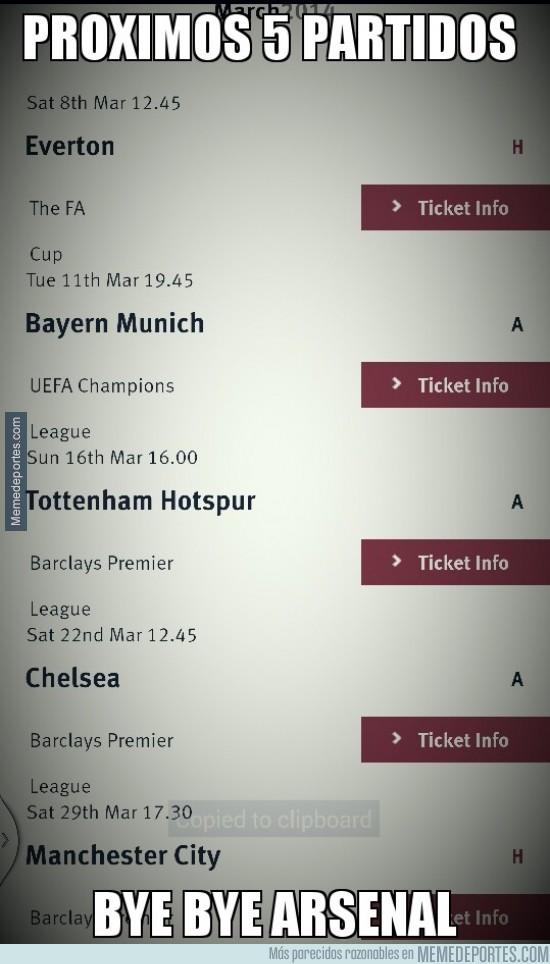 275412 - Próximos partidos del Arsenal