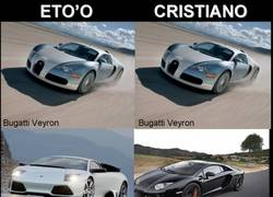 Enlace a Eto'o vs Cristiano Ronaldo [Supercoches edition]