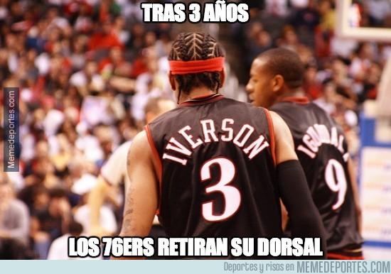 276707 - Los 76ers retiran el dorsal de Iverson