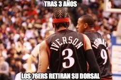 Enlace a Los 76ers retiran el dorsal de Iverson