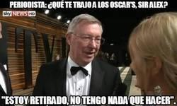 Enlace a Sir Alex Ferguson en la gala de los Oscar