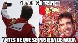 Enlace a Fernando Alonso ya hacía selfies