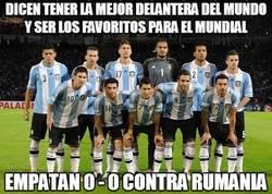 Enlace a Empate a cero entre Argentina y Rumanía, menudo tostón de partido