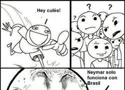 Enlace a Neymar ahogando sus penas con Brasil