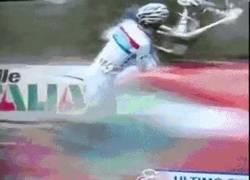 Enlace a GIF: A la mierda la bici y Al viento la carrera
