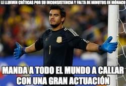Enlace a Sergio Romero no lo hace tan mal con Argentina