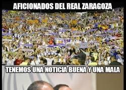 Enlace a Noticia mala y noticia buena para el Zaragoza