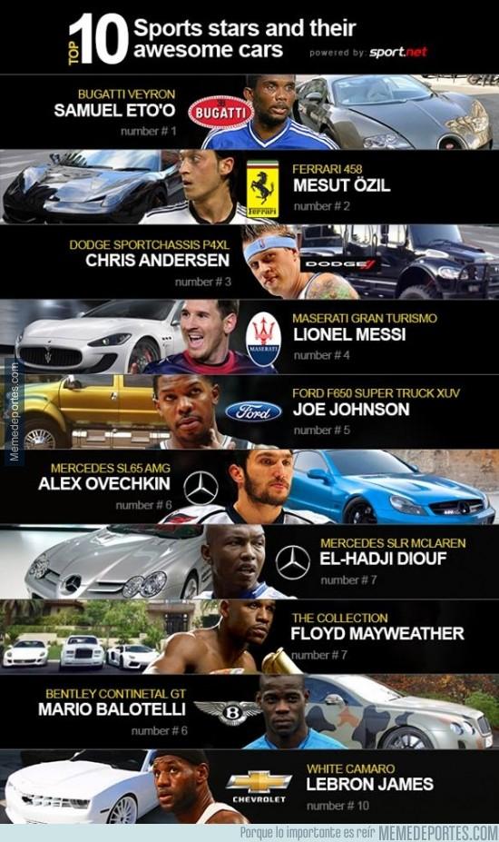 278425 - 10 estrellas del deporte y sus coches impresionantes