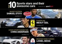 Enlace a 10 estrellas del deporte y sus coches impresionantes