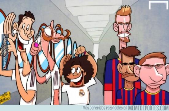 278550 - Mourinho revela que los jugadores del Madrid hacían cola en los espejos del vestuario...