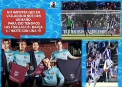 Enlace a Hazte con una toalla del Barça