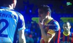 Enlace a Xavi es la cara del Barça en cada partido literalmente
