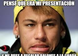 Enlace a Neymar pensó que era su presentación