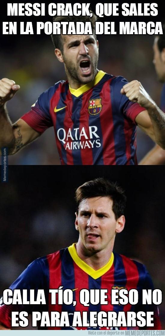 279653 - Cuando Messi sale en la portada del Barça... algo malo pasa