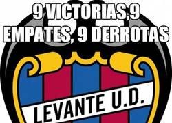 Enlace a Levante, 9 victorias,9 empates, 9 derrotas
