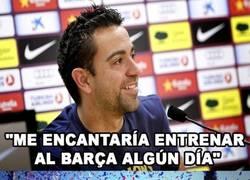 Enlace a A Xavi Hernandez le encantaría dirigir al Barça