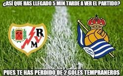 Enlace a Rayo - Real Sociedad, 2 goles en 3 minutos