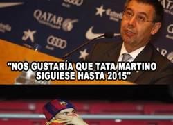 Enlace a Bartomeu quiere que Tata Martino siga como entrenador del Barça