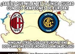Enlace a 2 datos históricos del Atlético de Madrid y Milán en Champions League