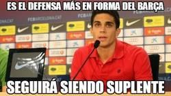Enlace a Bartra es el defensa más en forma del Barça
