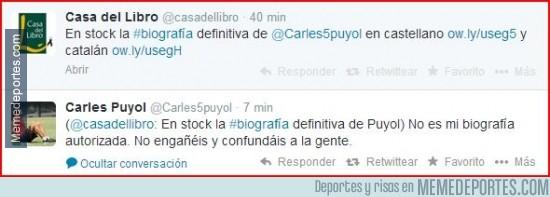 280791 - El Zas de @Carles5Puyol a @casadellibro que intenta aprovecharse de su marcha del FCB