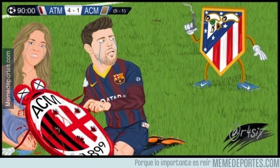 281136 - Shakira y Piqué lloran tras la derrota de Milan
