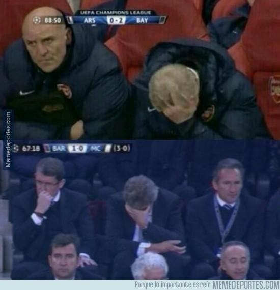 281662 - Pellegrini y Wenger, misma reacción de loser