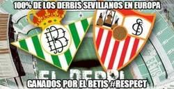 Enlace a 100% de los derbis sevillanos en Europa ganados por el Betis